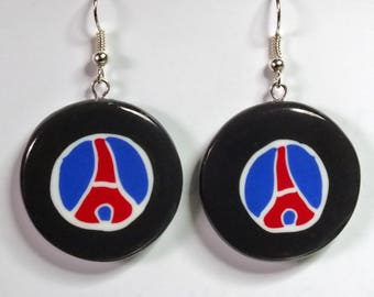 Fan earrings with... Football