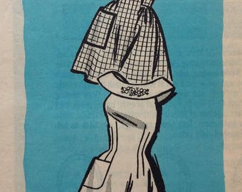 Mail order 9073 misses aprons size medium vintage 1960's sewing pattern  Uncut  Factory folds