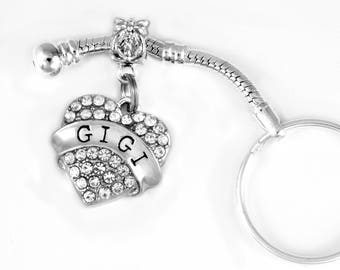 Gigi charm fits european style keychain and key chain GIGI jewelry GIGI gift I love GIGI best jewelry gift