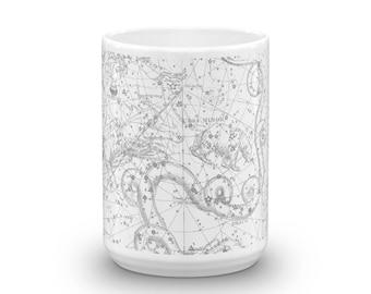 Constellations 15oz Coffee & Tea Mug - Plate II - Draco - Ursa Minor - Cepheus - Tarandus - Cassiopeia
