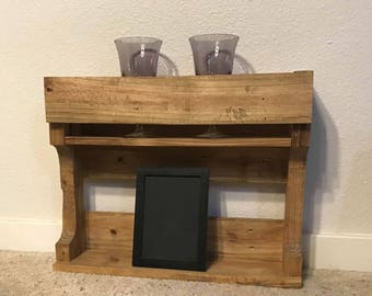 Pallet wall shelf/storage
