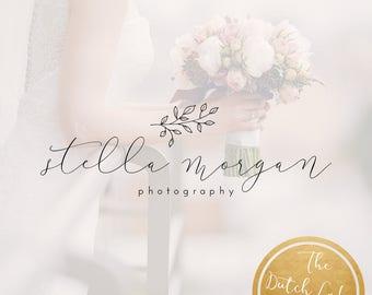 Premade Photography Logo Design - Delivered in Black, White & Gold Color - Design #6 - Stella Morgan