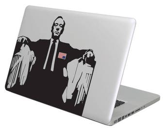 Frank Underwood House of Cards MacBook decal sticker,choose your size