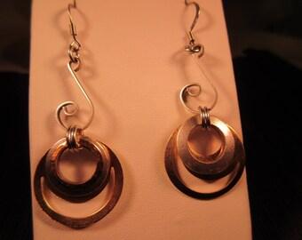 Boho Mixed Metal Dangle Earrings