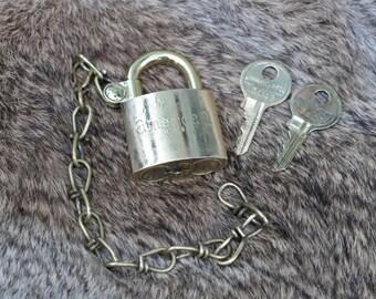 Brass American brand pad lock marked US