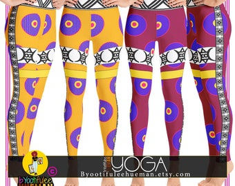 African Print Inspired YOGA Leggings