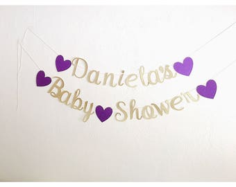 Baby Shower Banner - Custom Banner- Baby name banner- It's a girl, It's a boy banners- baby shower decorations, name banners