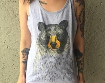 Bear shirt, black bear, bear shirts for women, bear shirts for men, bear print, bear tank, bear tshirt, bear lover, nature gift, bears
