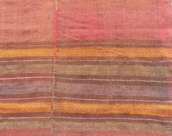 SUMMER SALE 25% OFF Size:9.5 ft by 4.10 ft Handmade Kilim Blanket Afghan Tribal Blanket Kilim