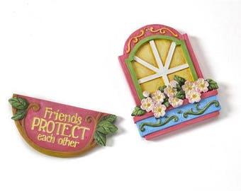 Fairy Garden  - The Magical Door - Protection 2PC. Accessory Set - Miniature