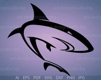 Vector SHARK, AI, eps, pdf, svg, dxf, png, jpg Image Graphic Digital Download Artwork, graphical, discount coupons