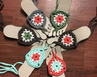 Barefoot Sandals, Teen/Adult Barefoot Sandals, Crochet Sandals
