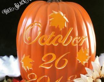 Custom Date Pumpkin