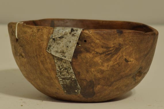 Bowl African Food Turkana Wood Ceremonial Kenya Handmade Women Cows Milk Turkana Bowl