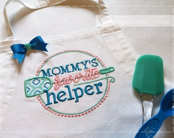 Aprons for Girls; Kid's Apron; Girl's Apron; Mommy's Helper; Embroidered Apron; Aprons for Kids; Aprons Personalized; Apron and Chef Hat