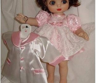 "Pink Satin & Lace 3 Piece Original Set FOR 12"" Osmond Adora Bell Dolls"