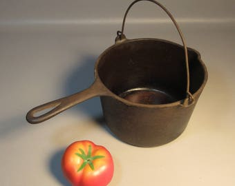 Wagner Ware Sidney O French Deep Fat Fryer Cast Iron Kettle w/Handle 1265