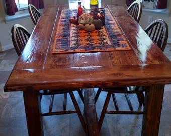 Handmade Customized 7u0027x3u0027 Farm Table And Bench Seat