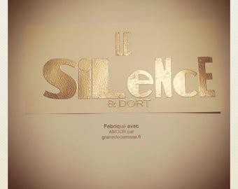 Carte Impression Typographique Le SILENCE & dort par Graine de carrosse