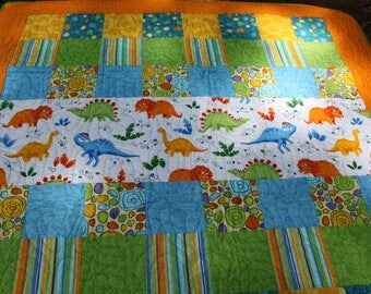 Dinosaur Toddler Quilt