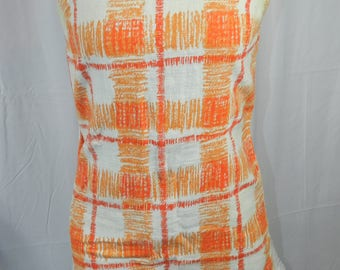 Vintage Retro Plaid Summer Dress - Medium