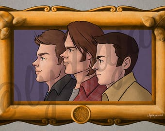 The Brothers Winchester (Profiles art print)