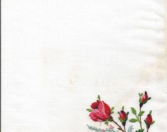 5 vintage handkerchief images, old textiles, prints for paper arts, junk journal images,  handkerchiefs