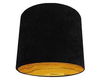 Black Gold Velvet Lampshade