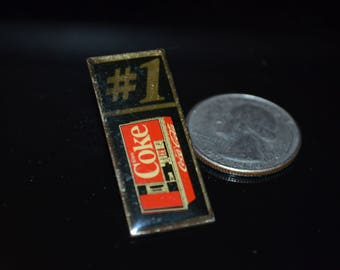 Vintage Coca Cola Vending Machine Lapel Pin