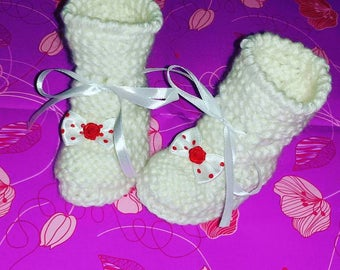 Baby shoes baby booties crochet neoborn