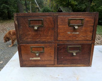Four Drawer Library Card Catalogue