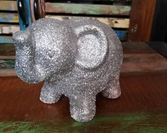 Glittery Money Box, Elephant Money Box, Animal Money Box