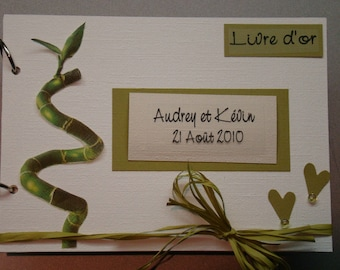 Guest book 'bamboo'