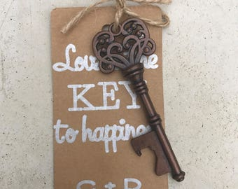 Key bottle opener wedding guest favors - guest gifts - personalized favors
