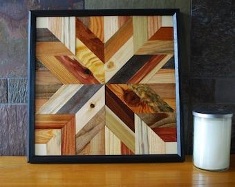 Star Quilt Design Wood Wall Art, Rustic Wood Wall Art, Fixer Upper Wall Decor, Rustic Wall Decor, Rustic Home Decor, Wood Quilt Block