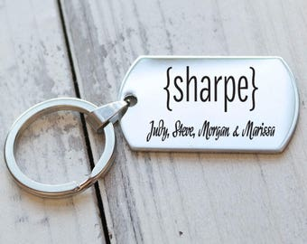 Family Name Personalized Key Chain - Engraved