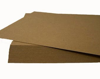 """5""""x7"""" Chipboard Sheets, Headband Display Cards, Shipping Pads, Display Sheets, ECO Recycled Paper, Brown Display Cards, Kraft Chipboard Card"""