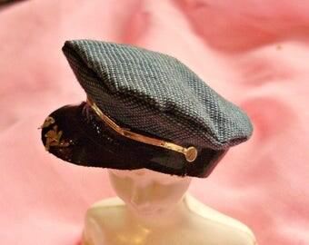 Ken 1973 *PILOT CAP* #7707 United Airlines -1970's Get Ups n Go -Vintage Barbie Accessories -Hat