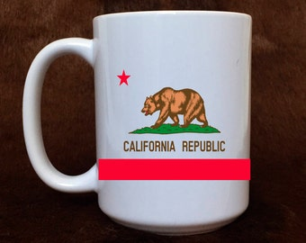 California flag, California Republic, California mug, gift item, coffee mug, gift for her, teacher gift