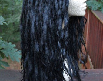 Jet Black Lace Front Synthetic Dreadlock Wig * Custom Dread Wig * Double Ended Dreads * Dreadlock Extension * Strega * Nu Goth * Pastel Goth
