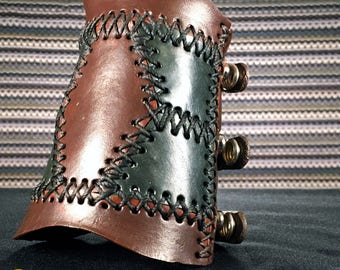 Legacy Bracer, Leather, Hand Made, Single Bracer, 03