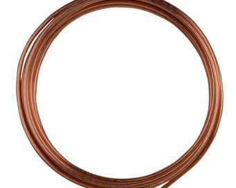 10' Round Dead Soft Copper Wire 10 Gauge Jewelry Making Craft Wire - WIR-650.10