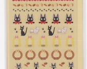 Kiki's Delivery Stickers - Majo no Takkyubin Stickers - Schedule Sticker Sheets - Set of 2 in Folder - Reference A4938