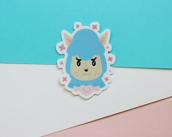 "Animal Crossing Cyrus Sticker - AC Pocket Camp - Matte Die Cut Alpaca 3"" Sticker- FairyFlux"