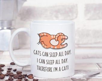 Cat Gift, Cat Mug with Funny Saying, Cat Lover Funny Gift, Cat Mom Gift, Cat Dad Gift, Funny Cat Coffee Mug