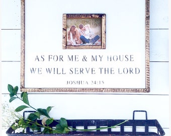 As for me and my house picture frame