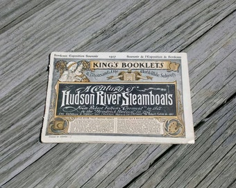 1907 Hudson River Steamboats booklet