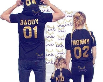 Family Team T-shirts| Family matching T-shirts|couples matching shirts|mommy and me |engagement shirt|team mom team baby team dad