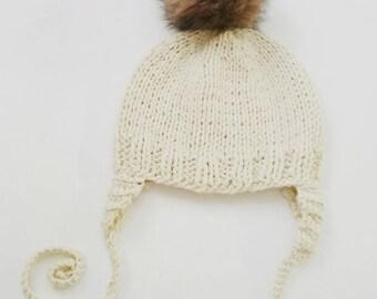 knit baby boy bonnet kids cream winter beanie knit baby cream beanie autumn