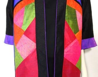 Color blocking oversize kimono jacket size 46